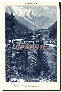 Old Postcard Mont Blanc Argentieres