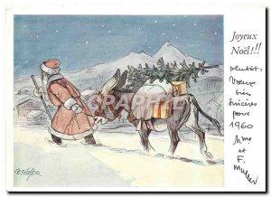 Postcard Modern Merry Christmas