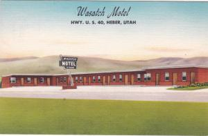 HEBER , Utah , 30-40s ; Wasatch Motel