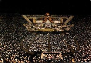 Italy Verona The Arena In An Opera Evening