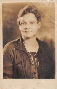 D97/ Black Americana Postcard 1928 Real Photo RPPC Woman Mother 7