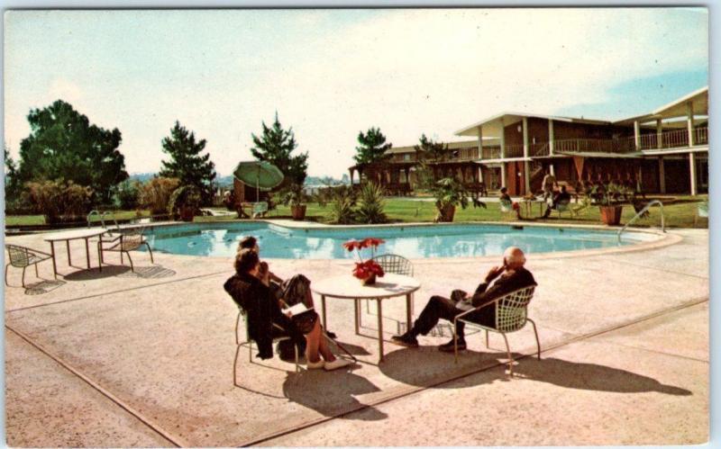 LA MESA, California CA Retirement Apartments GROSSMONT GARDENS Pool  Postcard / HipPostcard