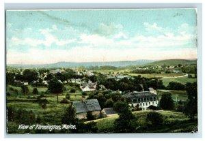 C. 1907 Birds Eye View. View Of Farmington, Maine. Postcard F81