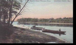 Wisconsin Stevens Point Martins Island Wisconsin River Albertype