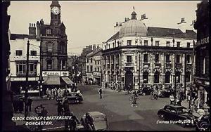 yorkshire, DONCASTER, Clock Corner, Baxtergate 50s RPPC
