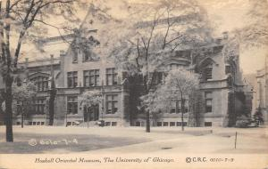 Chicago Illinois~University~Haskell Oriental Museum~CR Childs~1908 B&W Postcard