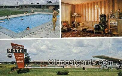 El Dorado Motel, Brookfield, MO, USA Motel Hotel Postcard Post Card Old Vinta...