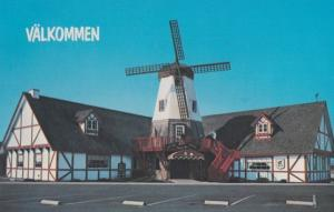 Swedish Mill Restaurant Welcome Smorgasborg Kingsburg Fresno County Postcard