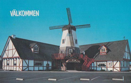 Swedish Mill Restaurant Welcome Smorgasborg Kingsburg Fresno County Postcard
