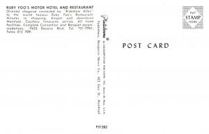 Ruby Foo's Motor Hotel and Restaurant  , 7655 Decorie Blvd