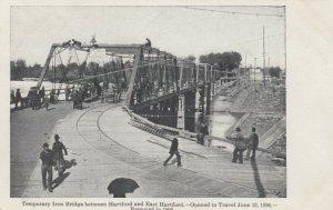 HARTFORD, CT, 00-10s; Temporary Iron Bridge
