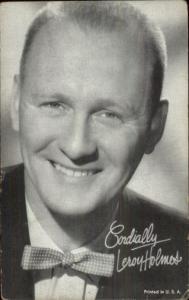 Actor Leroy Holmes Mutoscope Exhibit Card