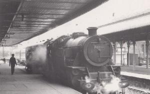 Engine 42269 Train for Elgin via Craigellachie at Aviemore Station Rare Postcard