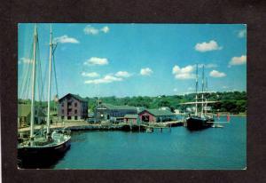 CT Schooner Australia Joseph Conrad Mystic Seaport Conn Connecticut Postcard
