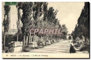 Postcard Ancient Arles Alyscamps Allee Tombs