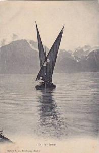 Sailboat, Lac Leman (Lake Geneva), Switzerland, 1900-1910s