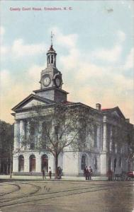 North Carolina Greensboro County Court House 1910