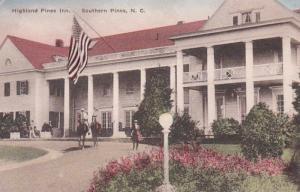 North Carolina Southern Pines Highland Pines Inn Handcolored Albertype 1922