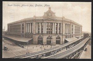 South Station Atlantic Avenue Boston Massachusetts Used c1912