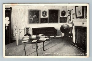 Morristown NJ-New Jersey, The Parlor, Washington Headquarters, Vintage Postcard