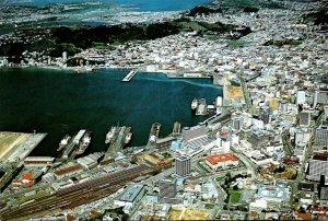New Zealand Wellington City Aerial View