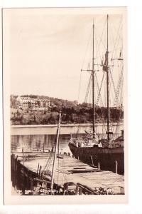 Real Photo, The Pines Hotel, Tall Sail Boat at Dock, Digby, Nova Scotia,