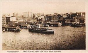 Circular Quay Ferry Sydney NSW Australia 1935c postcard