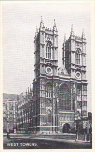 England London West Towers Westminster Abbey