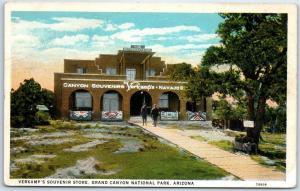 Grand Canyon National Park Postcard Verkamp's Souvenir Store Curteich 1930s