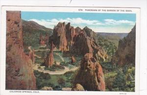 Colorado Panorama Of The Garden Of The Gods Curteich