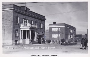 RP: CHAPLEAU , Ontario , Canada , 1954 ; Town Hall & public School