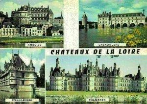 France Chateaux de la Loire Amboise Chenonceau Chambord Castles Postcard