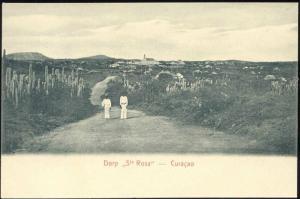 curacao, D.W.I., SANTA ROSA, Village Panorama (1899)