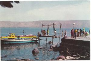 TIBERIAS, Trip on the KINNERETH, Lake of Galilee, Israel, 1950s-60s, Postcard