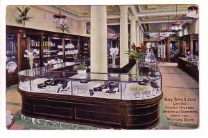 Henry Birks and Sons, Interior Jewelery Store, Winnipeg, Manitoba