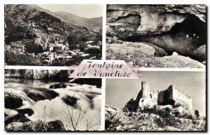 Old Postcard Fontaine de Vaucluse General View The Source Cascades Chateau Pe...