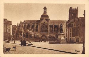 Postcard DIEPPE, Place Nationale, St. James Church, Statue of Duquesne #111
