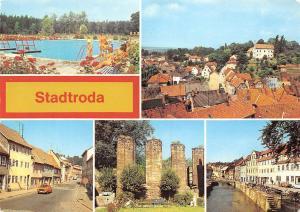 Germany Stadtroda, Freibad Teilansicht Klosterruine Strasse des Friedens