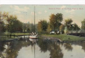 Michigan Detroit Boating Scene In Water Works Park 1909