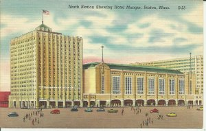 North Station Showing Hotel Manger, Boston, Mass