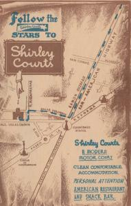 MEXICO CITY , 1930s ; Shirley Courts, Map on back