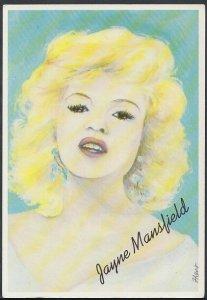 Film Star Postcard - Film Stars of The Fifties - Actress Jayne Mansfield RT2364