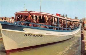 St Petersburg Florida The Altantas Fishing Ship Vintage Postcard JE228284