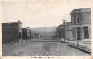 Alta Vista Virginia~Masonic Building~Dirt Broad St Downhill to the SE~c1908 B&W