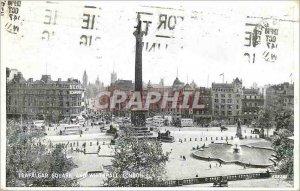 Old Postcard Trafalgar Square and Whitehall London