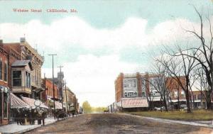 Chillicothe Missouri Webster Street Scene Historic Bldgs Antique Postcard K48247