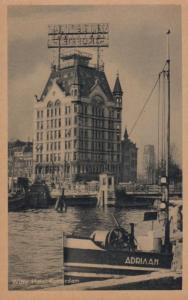 Witte Haus Rotterdam Adriann Ship Old Postcard