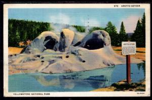 Grotto Geyser,Ywellowstone National Park BIN
