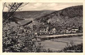 Gemuenden am Main River General view Panorama