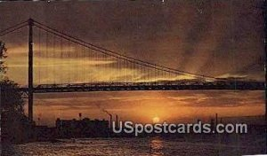 Ambassador Bridge in Detroit, Michigan